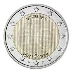 LUXEMBURGO 2 EUROS 2009 EMU 10 ANIVERSARIO MONEDA BIMETALICA SC Luxembourg