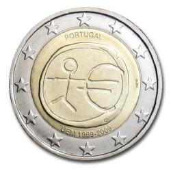 PORTUGAL 2 EUROS 2009 EMU ANNIVERSARY UNC BIMETALLIC