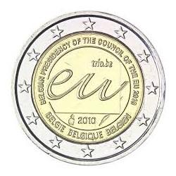 BELGIUM 2 EUROS 2010 UE PRESIDENCY UNC BIMETALLIC
