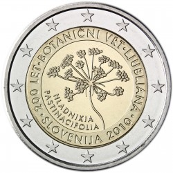 SLOVENIA 2 EUROS 2010 BOTANIC GARDEN UNC BIMETALLIC