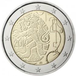 FINLANDIA 2 EUROS 2010 LEON DECRETO DE 1860 SC BIMETALICA