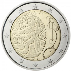 FINLANDIA 2 EUROS 2010 LEON DECRETO DE 1860 SC MONEDA BIMETALICA CONMEMORATIVA Finnland