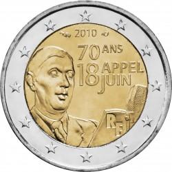 FRANCIA 2 EUROS 2010 CHARLES DE GAULLE 1945 SC MONEDA BIMETALICA CONMEMORATIVA France