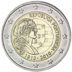 PORTUGAL 2 EUROS 2010 DAMA CENTENARIO DE LA REPUBLICA PORTUGUESA SC MONEDA BIMETALICA CONMEMORATIVA