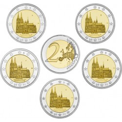 GERMANY 2 EURO 2011 COLONIA UNC A+D+F+G+J