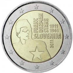 ESLOVENIA 2 EUROS 2011 CENTENARIO DEL NACIMIENTO DE FRANC ROZMAN SC BIMETALICA MONEDA CONMEMORATIVA Slovenia
