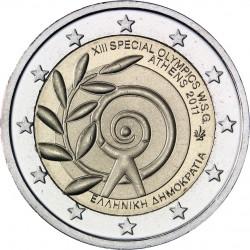 GRECIA 2 EUROS 2011 PARAOLIMPIADA DE ATENAS SPECIAL OLYMPICS SC BIMETALICA MONEDA CONMEMORATIVA Greece