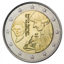 HOLANDA 2 EUROS 2011 ERASMUS DE ROTTERDAM @RARA@ SC BIMETALICA MONEDA CONMEMORATIVA The Netherlands