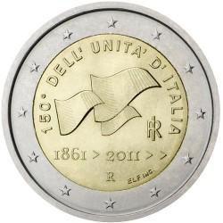 ITALIA 2 EUROS 2011 UNIFICACION DEL PAIS 150 ANIVERSARIO SC BIMETALICA MONEDA CONMEMORATIVA Italy