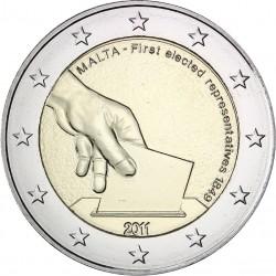 MALTA 2 EUROS 2011 PRIMERA ELECCION DE REPRESENTANTES EN 1849 @RARA@ SC BIMETALICA MONEDA CONMEMORATIVA