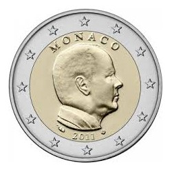 MONACO 2 EUROS 2011 REY ALBERTO I SC MONEDA NO CONMEMORATIVA Tipo CIRCULANTE