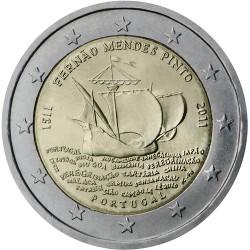 PORTUGAL 2 EUROS 2011 CARABELA de MENDES PINTO @RARA@ SC BIMETALICA MONEDA CONMEMORATIVA