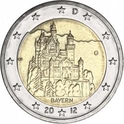 ALEMANIA 2 EUROS 2012 CASTILLO en BAYERN SC BIMETALICA MONEDA CONMEMORATIVA Germany BRD