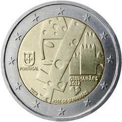 PORTUGAL 2 EUROS 2012 EUROPEAN CULTURE CITY UNC BIMETALLIC