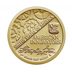 ESTADOS UNIDOS 1 DOLAR 2018 D AMERICAN INNOVATION 1ª moneda de presentación SIGNED FIRST PATENT LATON SC USA 1 Dollar coin