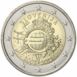 ESLOVENIA 2 EUROS 2012 X ANIVERSARIO DEL EURO SC MONEDA CONMEMORATIVA BIMETALICA Slovenia