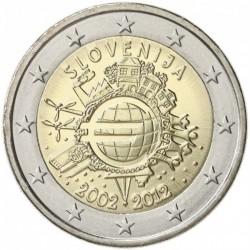 SLOVENIA 2 EUROS 2012 X ANIVERSARY UNC BIMETALLIC