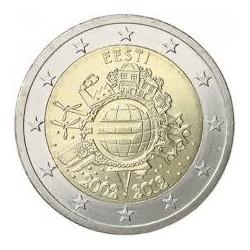 ESTONIA 2 EUROS 2012 X ANIVERSARIO DEL EURO SC MONEDA CONMEMORATIVA BIMETALICA Eesti