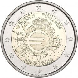 FINLANDIA 2 EUROS 2012 X ANIVERSARIO DEL EURO SC MONEDA CONMEMORATIVA BIMETALICA Finnland