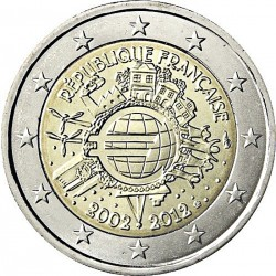 FRANCE 2 EUROS 2009 X ANNIVERSARY UNC BIMETALLIC