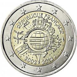 FRANCIA 2 EUROS 2012 X ANIVERSARIO DEL EURO SC MONEDA CONMEMORATIVA BIMETALICA France