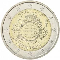 NETHERLANDS 2 EUROS 2012 X ANNIVERSARY UNC BIMETALLIC