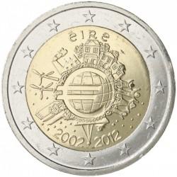 IRLANDA 2 EUROS 2012 X ANIVERSARIO DEL EURO SC MONEDA CONMEMORATIVA BIMETALICA Eire Ireland