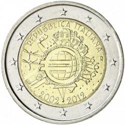 ITALIA 2 EUROS 2012 X ANIVERSARIO DEL EURO SC MONEDA CONMEMORATIVA BIMETALICA Italy