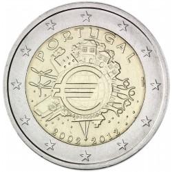 PORTUGAL 2 EUROS 2012 X ANIVERSARIO DEL EURO SC MONEDA CONMEMORATIVA BIMETALICA