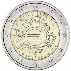 PORTUGAL 2 EUROS 2012 X ANNIVERSARY UNC BIMETALLIC