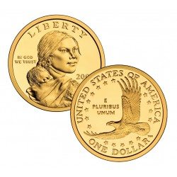@RARA@ ESTADOS UNIDOS 1 DOLAR 2005 S INDIA SACAGAWEA KM.310 MONEDA DE LATON PROOF US $1 DOLLAR COIN