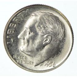 USA 10 CENTS DIME 1956 D ROOSVELT SILVER UNC