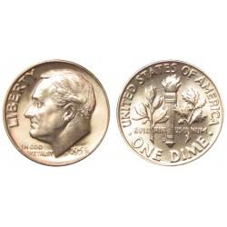 USA 10 CENTS DIME 1958 P ROOSVELT SILVER AUNC