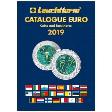 CATALOGO de MONEDAS y BILLETES EURO 1999 a 2019 Autor LEUCHTTURN @EDICION EN INGLES@ Especializado