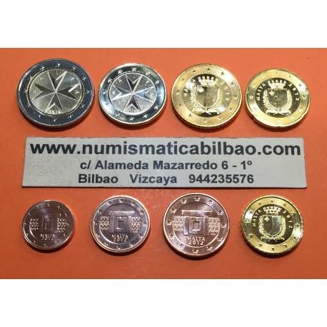 MALTA MONEDAS EURO 2013 SC : 1+2+5+10+20+50 Centimos + 1 EURO + 2 EUROS 2013 SERIE TIRA @EMISION 35000 uds@