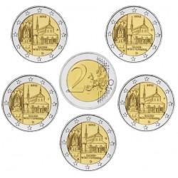 ALEMANIA 2 EUROS 2013 A+D+F+G+J ABADIA de MAULBRONN en BADEN SC MONEDA CONMEMORATIVA Germany BRD