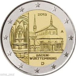 ALEMANIA 2 EUROS 2013 ABADIA de MAULBRONN en BADEN SC MONEDA CONMEMORATIVA Germany BRD