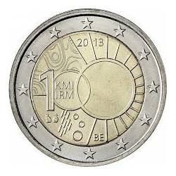 BELGICA 2 EUROS 2013 INSTITUTO METEREOLOGICO 100 ANIVERSARIO SC MONEDA CONMEMORATIVA Belgium Belgique