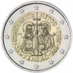 ESLOVAQUIA 2 EUROS 2013 SANTOS CONSTANTINO y METODIO SC MONEDA CONMEMORATIVA Slovakia