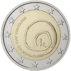 ESLOVENIA 2 EUROS 2013 CUEVA DE POSTOJNA 800 ANIVERSARIO DE SU DESCUBRIMIENTO SC MONEDA CONMEMORATIVA Slovenia