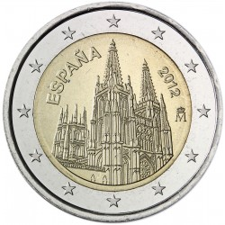 SPAIN 2 EUROS 2011 BURGOS CATHEDRAL UNC BIMETALLIC