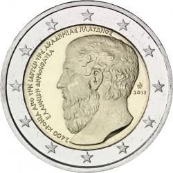 GRECIA 2 EUROS 2013 ACADEMIA DE PLATON SC MONED CONMEMORATIVA Greece
