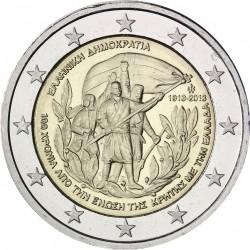 GRECIA 2 EUROS 2013 ADHESION DE CRETA AL REINO GRIEGO SC MONEDA CONMEMORATIVA Greece