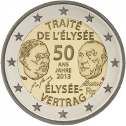 FRANCE 2 EUROS 2013 TEATRY OF ELISEUM UNC BIMETALLIC
