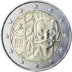 FRANCIA 2 EUROS 2013 PIERRE de COUBERTIN FUNDADOR DEL COI SC MONEDA CONMEMORATIVA France