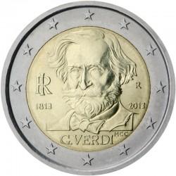 ITALIA 2 EUROS 2013 GIUSSEPE VERDI SIN CIRCULAR