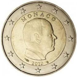 MONACO 2 EUROS 2012 REY ALBERTO I SC MONEDA NO CONMEMORATIVA Tipo CIRCULANTE