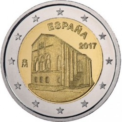 ESPAÑA 2 EUROS 2017 IGLESIA SANTA MARIA DEL NARANCO SC MONEDA CONMEMORATIVA Spain Spanien
