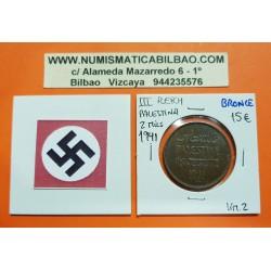PALESTINA 2 MILS 1941 ESPIGA DE CEREAL KM.2 MONEDA DE BRONCE EBC Palestine Bajo dominio de Inglaterra WWII EPOCA NAZI