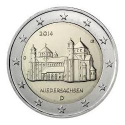 2€ EUROS 2014 ALEMANIA Letra J SAJONIA SIN CIRCULAR BIMETALICA